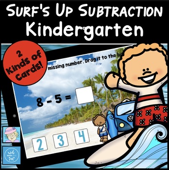 Boom Cards Kindergarten Subtraction FREE