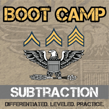 Subtraction Boot Camp -- Differentiated Subtraction Practice Assignments