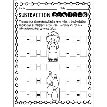 Subtraction Bowling