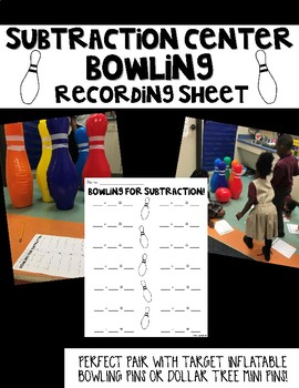 Subtraction Bowling Center- recording sheet
