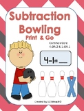 Subtraction Bowling Print & Go K.OA.2 & 1.OA.1