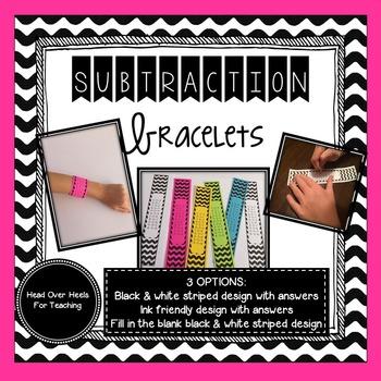 Subtraction Bracelets {Fact Fluency 0-12}