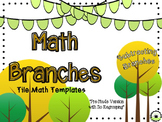Subtraction Branches [EDITABLE MATH TILE GAME templates]