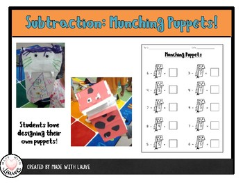 Subtraction Buddy: Munching Puppets!