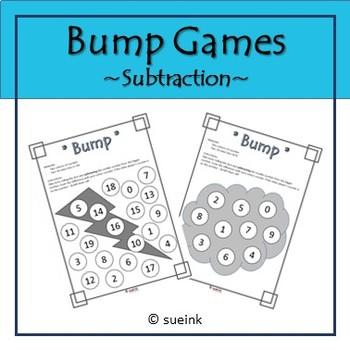 Subtraction Bump Game FREEBIE!