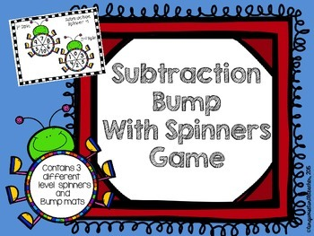 Subtraction Bump Game with Spinners