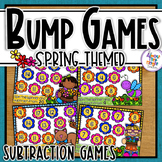 Subtraction Bump Games ~ 0-10 ~ Spring Themed