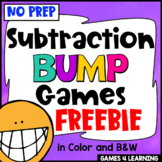 Subtraction Free: Subtraction Games No Prep Subtraction Facts Bump Games