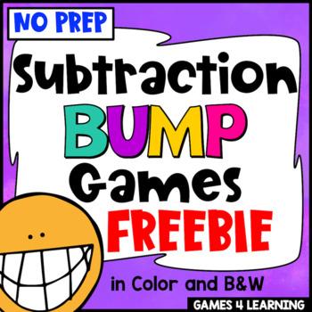 Subtraction Free: Subtraction Games No Prep Subtraction Fa