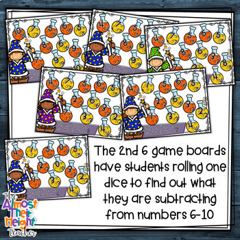 Subtraction Bump Games - Halloween themed
