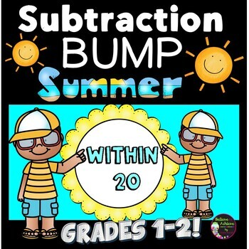 Subtraction Bump Games -Subtraction Facts 20 and less (Summer Theme)