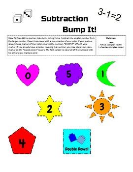 Subtraction Bump It Game
