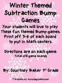 Subtraction Bump Winter Themed