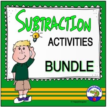 Subtraction Worksheets and Activities Bundle
