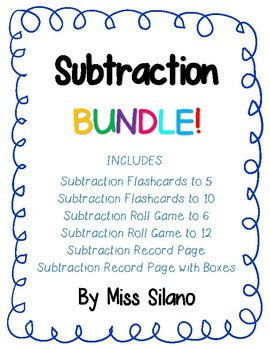 Subtraction Bundle (Subtraction Within 10)