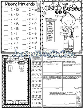 Subtraction Worksheets Bundle