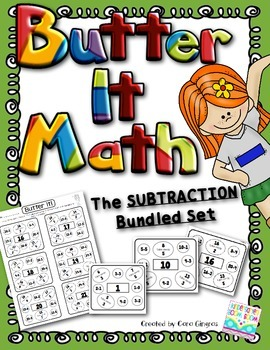 Subtraction - Butter It Math Decomposing Numbers 1-21 (Bundle Set)