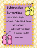 Subtraction Butterflies within 10 Cake Walk Style Write the Room 7 Games in All