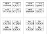 Subtraction Cards (0-20)