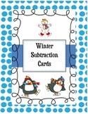 Subtraction Cards-Winter Theme {freebie}