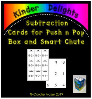 Subtraction Cards for Push n Pop Box and Smart Chute