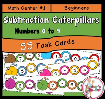 Subtraction Caterpillars Facts 0-9