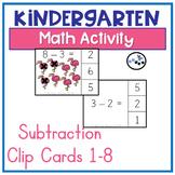 Subtraction Center Clip Cards: Eureka Math Module 4 Topic D