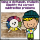 Subtraction Center Game Clip Cards