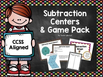 Subtraction Centers and Games Pack