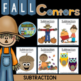 Subtraction Fall Math Centers Five Mix and Match Centers