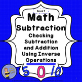 Subtraction Checking Using Inverse Operations Student Workbook