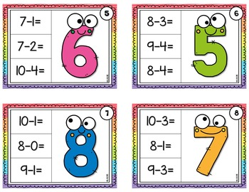 Subtraction Chip It Cards {Differences to 20}