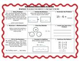 Subtraction Choice Board Tic-Tac-Toe