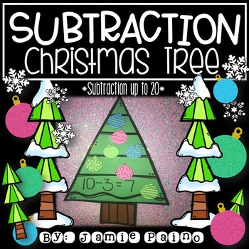 Subtraction Christmas Tree Craft