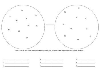 Subtraction Circles