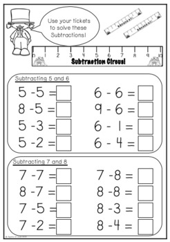Subtraction Circus! Subtraction Within 10 Activities