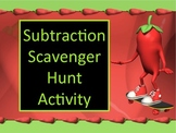 Subtraction Classroom Scavenger Hunt Activity