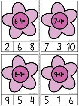 Subtraction Clip Cards (0-10)