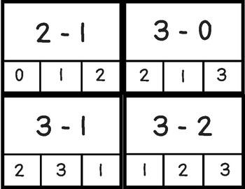 Subtraction Clip Cards 1-10