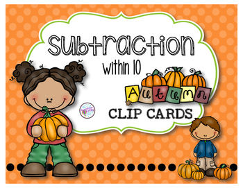 Subtraction Clip Cards
