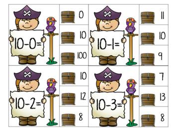 Subtraction Clip Cards