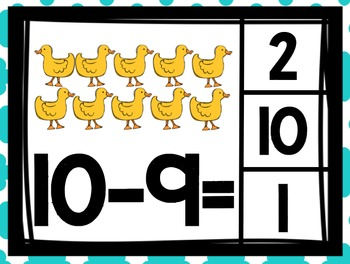 Subtraction Clip Cards Numbers to 10