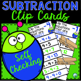 Subtraction Clip and Flip Cards - Number Facts from 0 to 20