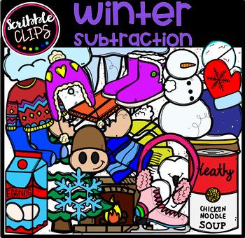 Subtraction Clipart  Bundle (scribble clips)
