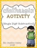 Subtraction Clothespin Math Activity