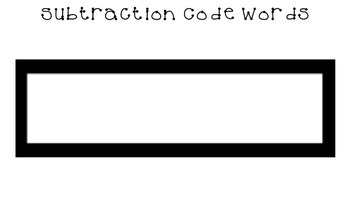 Subtraction Code Words