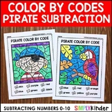 Subtraction Color By Code - Pirate Math