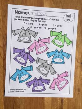 Subtraction Color by Code