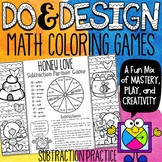 Subtraction Color by Number Games