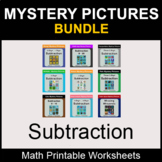 Subtraction - Color by Number - Math Mystery Pictures - BUNDLE